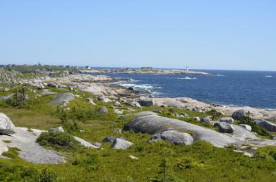 Photo of Peggys Cove from Memorial on NaturalCrooksDotCom